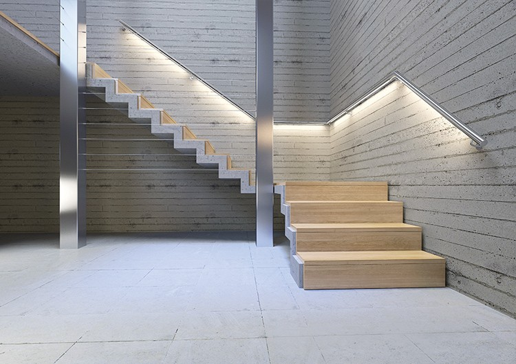 Stairs And Handrails Led Lighting